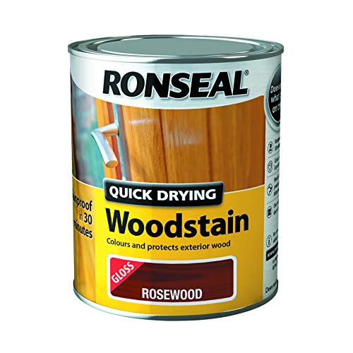 Ronseal Quick Drying Wood Stain Rosewood Gloss 750ml