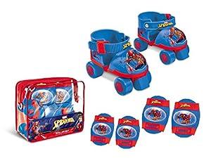 Spiderman Spiderman-18390 Set de Patines Infantiles con Protecciones, Talla 22 a 29, Multicolor (Mondo 18390)