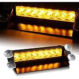8W LED Straßenräumer, Frontblitzer - Feuerwehr - Polizei (Lichtfarbe: orange)