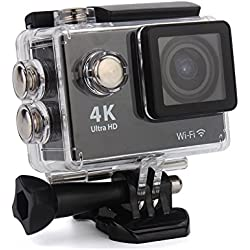 4K Ultra HD 16 MP WiFi Waterproof Action Camera (Black)