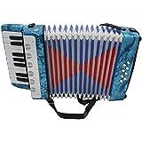 ammoon Mini Kleine 17de Key Acordeón de 8bajos pädagogische Instrumento Musical juguete para niños niños Amateur principiantes regalo de Navidad