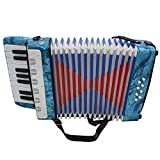 ammoon Mini petites de 17Key 8basses accordéon pédagogique Instrument de musique Jouet pour enfants Enfants Amateur débutants cadeau de Noël