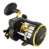 Lintimes Trolling Reel with Line Counter Alarm Bell Conventional Saltwater Level wind Fishing