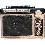 Class Déco TI003Spardose RADIO Leinwand mehrfarbig 15x 7x 12cm