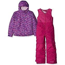 Columbia Buga Conjunto para la Nieve, Niños, Rosa (Pink Clover Trees), Talla: 3T