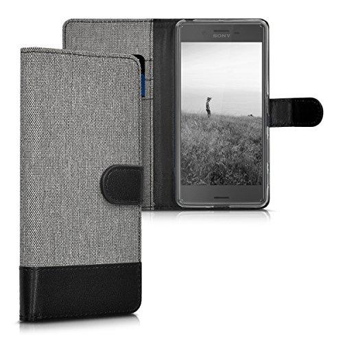 kwmobile Sony Xperia X Performance Hülle - Kunstleder Wallet Case für Sony Xperia X Performance mit Kartenfächern und Stand