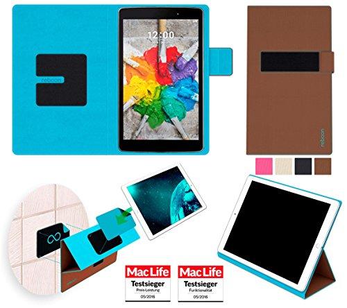 reboon LG G Pad 3 8.0 FHD Hülle Tasche Cover Case Bumper | in Braun | Testsieger