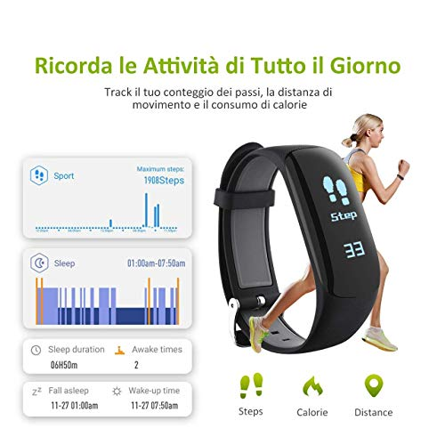 Zoom IMG-2 omorc fitness tracker impermeabile ip67