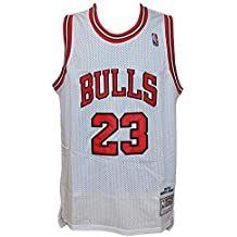 Hardwood Classics - Camiseta blanca de la NBA, diseño retro vintage, de Michael Jordan
