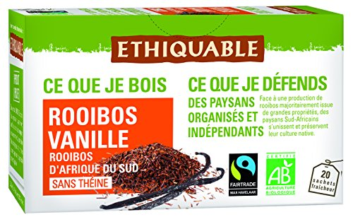 THE ROUGE ROOIBOS VANILLE BIO- 20 SACHETS