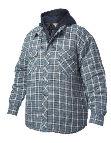 Arbeit King Fooler Front gesteppt Shirt für Herren mit Kapuze Flannel