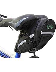 Sacoche de selle,GYOYO Sac/Pochette de selle vélo étanche Pochette de vélo,Pochette Selle Rangement avec bande réfléchissante pour VTT,voyageurs, cyclisme, randonnée cyclistes(Noir)