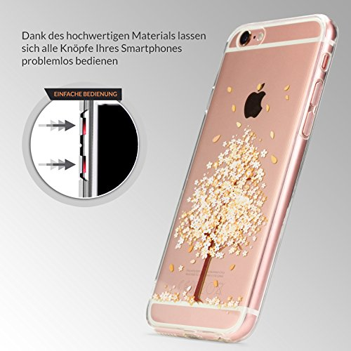 """[TREND] Original Urcover® Apple iPhone 6 / 6s (4,7 """") TPU Case Durchsichtig mit Muster Schutzhülle Cover Silikon   Deutscher Fachhandel   Mandala Schwarz Baum Gelb"""