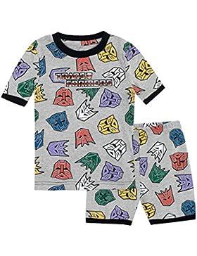 Transformers Pijamas de manga corta para Niños Ajuste Ceñido