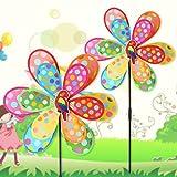 ECMQS Punkte verdoppeln Schicht Windmühle Kind Spielzeuge, Garten Ornamente Bunt im Freien Wind Spinner