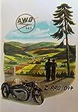 Schönes Prospekt SIMSON AWO 425 Touren - DDR STIL 1953