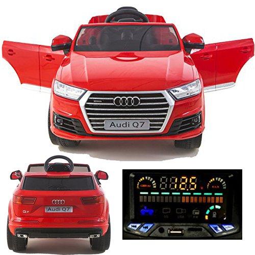 simron Audi Q7 Quattro SUV Elektro Kinderauto Kinderfahrzeug Ride-On 12V Kinder Elektroauto rot