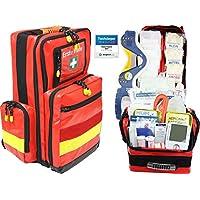 Erste Hilfe Notfallrucksack Betriebssanitäter mit autom. Blutdruckmessgerät & Stethoskop Plane mit gelben Reflexstreifen... preisvergleich bei billige-tabletten.eu