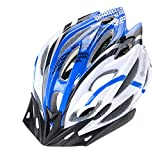 Ultra Light Weight -Premium Qualität Airflow Bike Helm Spezialisiert für Road & Mountain Biking - Safety Certified Fahrradhelme für Erwachsene Männer & Frauen, Teen Boys & Girls - Bequem, Leicht, Breathable ( Color : Blue and white )