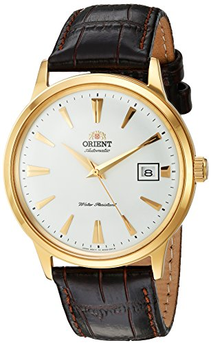 Orient Men's Analog Japanese-Automatic Watch with Leather Strap FAC00003W0