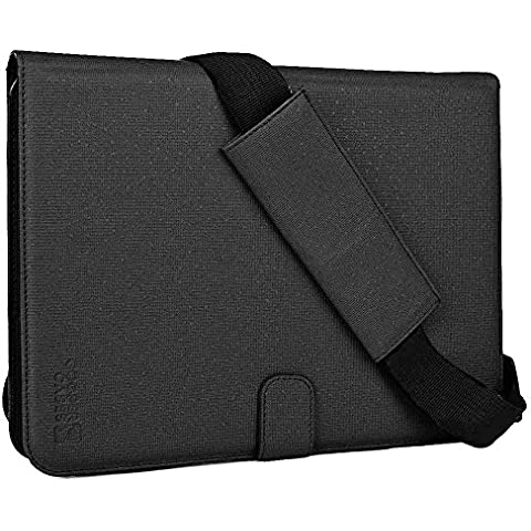 Samsung Galaxy Tab A 9.7 (SM-T550) custodia, COOPER MAGIC CARRY II PRO Custodia Protettiva a libro da viaggio per tablet con manico, Tracolla e Supporto Integrato (Nero)
