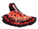 La Señorita Vestido Ropa Muñeca Flamenco Barbie España Disfraz rojo puntos negro