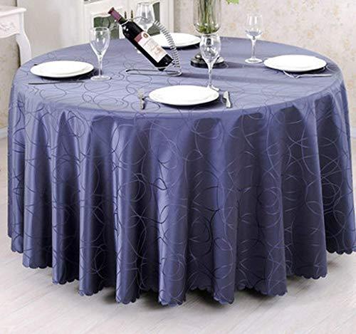 BJYG Tischdecke Restaurant European Round für Pastoral Western Tischdecke Konferenztisch Art Tea Tischdecke (Farbe: Navy, Größe: Durchmesser 220cm) (Blue Tischdecke Navy Vinyl)