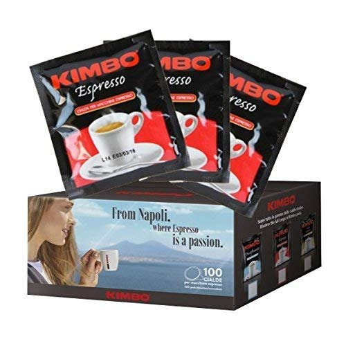 Kimbo Caffe' 100 CIALDE CAFFE MISCELA ESPRESSO NAPOLETANO ESE 44MM