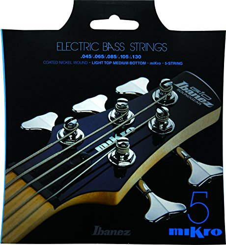 Ibanez Mikro Bass Saiten IEBS5CMK IEBS Coated Nickel Bass Gitarre Saiten Medium 5-Bänder