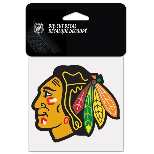 NHL Chicago Blackhawks 21863010 10x10 cm (4x4) Decal by Wincraft