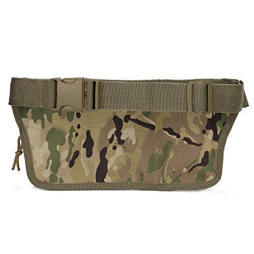 Impermeabile Tactical sport Outdoor borse vita Hip Pacchetto Pochete Uomo Casual Marsupio da escursionismo grande esercito Marsupio, sand camo Brown