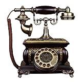 Retro Telefon FJH Doppeltes Ringtone Festes Holz-Metall, Das Doppeltes Ringtone Garten-Mode-kreatives europäisches Innenministerium 21cm * 27cm * 26cm dreht