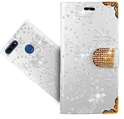 Preisvergleich Produktbild Honor 7A / Huawei Y6 2018 / Y6 Prime 2018 Handy Tasche,  FoneExpert® Wallet Case Cover Bling Diamond Hüllen Etui Hülle Ledertasche Lederhülle Schutzhülle Für Honor 7A / Huawei Y6 2018 / Y6 Prime 2018