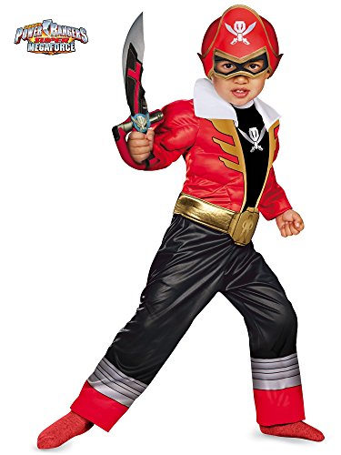 Power Rangers Super Megaforce Rot Ranger Toddler Muscle Kostüm (Kostüm Power Ranger Samurai)