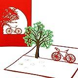 """Pop Up Karte """"Fahrradtour"""" - Fahrradkarte, Gutschein, Fahrrad, Frühlingskarte, Einladung, Gutscheinkarte, Einladungskarte, Geschenkkarte, 3D Karte, Geburtstagskarte"""