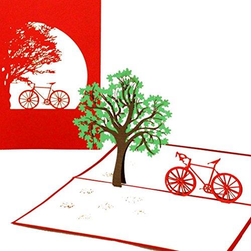 """Pop Up Karte""""Fahrradtour"""" - Fahrradkarte, Gutschein, Fahrrad, Frühlingskarte, Einladung, Gutscheinkarte, Einladungskarte, Geschenkkarte, 3D Karte, Geburtstagskarte"""