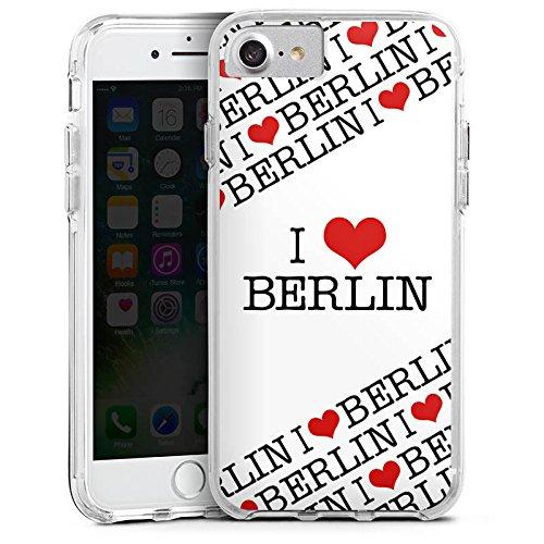 Apple iPhone 6 Bumper Hülle Bumper Case Glitzer Hülle Berlin Love Amour Bumper Case transparent