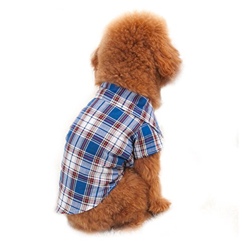 s-lifeeling Lovely Pet Kleidung Rot Blau T-Shirt Pet Supplies Spring Summer Innen Reise Hund Kleidung (Cowgirl Schlafanzug)