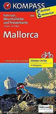 Mallorca: Fahrrad-, Mountainbike- und Freizeitkarte mit Führer. GPS-genau. 1:70000 (KOMPASS-Fahrradkarten International, Band (Wolken Atlas)