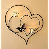 Collectible India Iron Decorative Double Heart Wall Sconce Candle Holder Hanging Tealight Holders Home Arts Weddings Events Decor