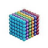 Diametro 5mm creativo piccolo sfere di metallo cubo scrivania giocattolo decompressione per il tempo libero viaggi di intrattenimento lo stress sollievo e lo sviluppo dell'intelligenza (Multicolore)