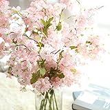 Longra Wohnaccessoires & Deko Künstliche Fake Kirschblüte Seide Blume Braut