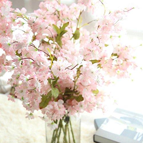 Longra Wohnaccessoires & Deko Künstliche Fake Kirschblüte Seide Blume Braut Hydrangea Haus Garten Dekor Kunstblumen (B) (Haus Und Garten Dekor)