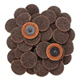 EasyBuy India 50pcs 2 Inch 50mm Roll Lock Sanding Disc Sand Paper