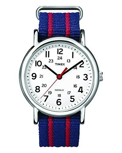 Timex Unisex-Armbanduhr Unisex Weekender Slip Through Analog Quarz T2N747