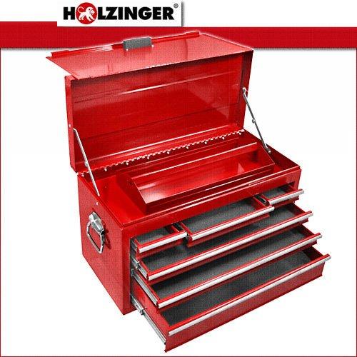 Holzinger Metall Werkzeugkoffer HWZK600-6 – kugelgelagert (6 Schubladen + 1 Fach) - 2
