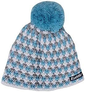 Eisbär Fidel Bonnet à pompon pour femme taille unique Multicolore - White/Azzur Blau/Grau