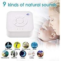 Cheerfulus Tragbarer Weiße Geräuschmaschine, Schlaf-Therapie-Maschine mit 9 natürlichen Sound-Optionen für Babys... preisvergleich bei billige-tabletten.eu
