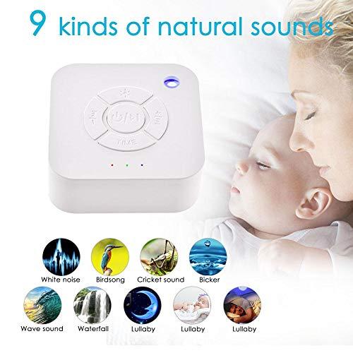 maquina de sonido de ruido blanco, para dormir bebes, con temporizador