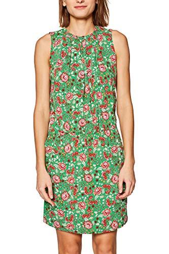 edc by ESPRIT Damen 049CC1E012 Kleid, Grün (Dark Green 300), Herstellergröße: 38
